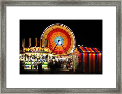 Carnival Midway Framed Print