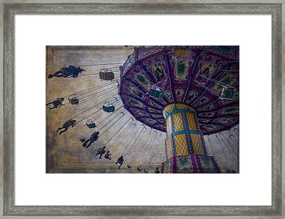 Carnival Ride At The Fair Framed Print by Garry Gay