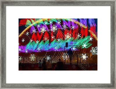 Carnival Ride Rainbow Colors Framed Print by Steven Bateson