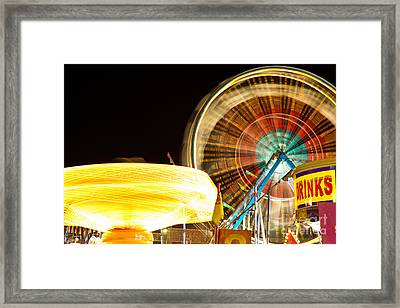 Carnival Rides At Night Picture Framed Print by Paul Velgos