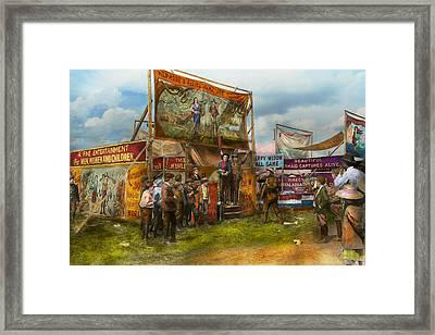 Carnival - Wild Rose And Rattlesnake Joe 1920 Framed Print by Mike Savad