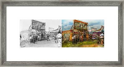 Carnival - Wild Rose And Rattlesnake Joe 1920 - Side By Side Framed Print by Mike Savad