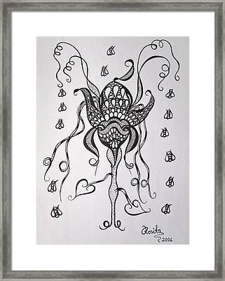Carnivorous Framed Print by Rosita Larsson