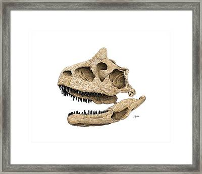 Carnotaurus Skull Framed Print