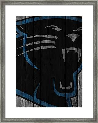 Caroilina Panthers Wood Fence Framed Print by Joe Hamilton
