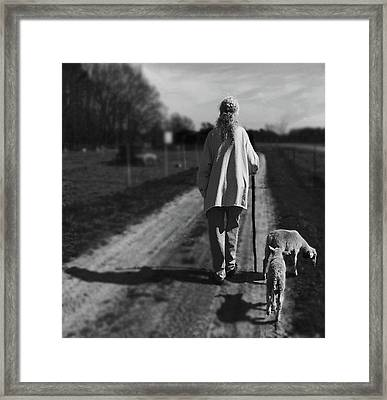Carol And Her Lambs Framed Print