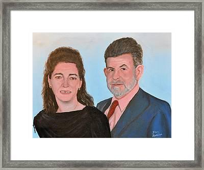 Carol And Max Framed Print by Stan Hamilton