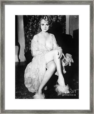 Carol Lombard (1908-1942) Framed Print by Granger