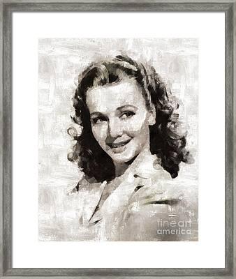 Carole Landis, Actress Framed Print by Mary Bassett