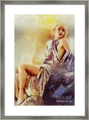 Carole Lombard, Vintage Hollywood Actress Framed Print