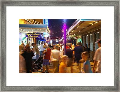 Carolina Beach Boardwalk July 2006 Framed Print