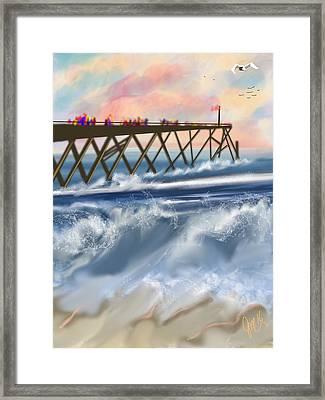 Carolina Beach Framed Print