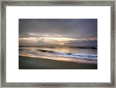 Carolina Beach Morning Framed Print