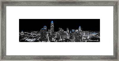 Carolina Blue - Uptown Pano Blue Framed Print