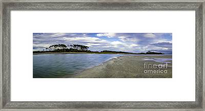 Carolina Inlet At Low Tide Framed Print