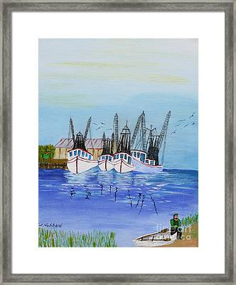 Carolina Shrimpers Framed Print by Bill Hubbard