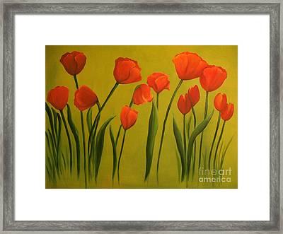 Carolina Tulips Framed Print by Carol Sweetwood