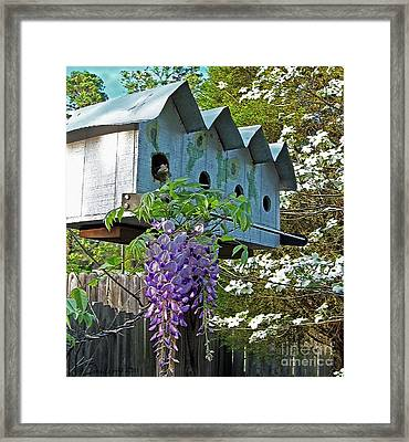 Carolina Wisteria Bird Hotel Framed Print