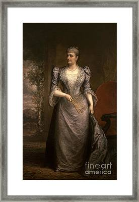 Caroline Harrison, First Lady Framed Print by Science Source