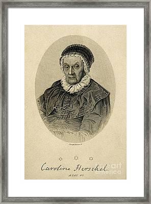 Caroline Herschel, German Astronomer Framed Print by Wellcome Images