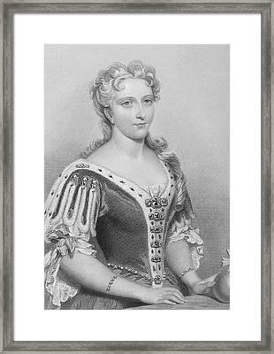 Caroline Of Ansbach,1683-1737. Queen Framed Print