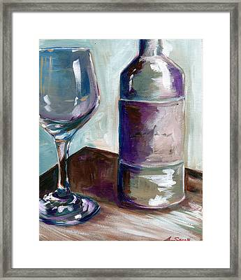 Caroline Wine Framed Print by Anne Seay