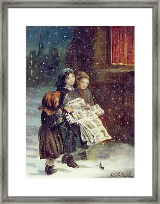 Carols For Sale  Framed Print by Augustus Edward Mulready