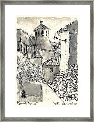 Framed Print featuring the painting Caromb Village In Provence by Martin Stankewitz