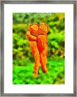 Carots In Love - Da Framed Print by Leonardo Digenio
