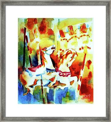 Framed Print featuring the painting Carousal 4 by Kathy Braud