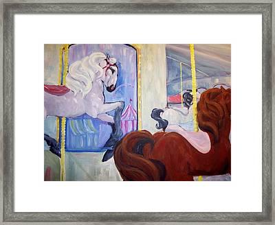 Carousel Framed Print by Andreia Medlin