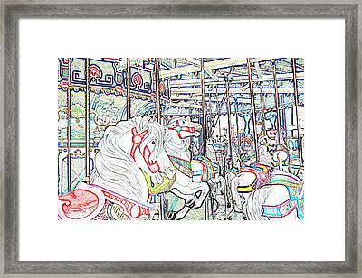 Carousel At Wonderland Framed Print by Kevin  Sherf