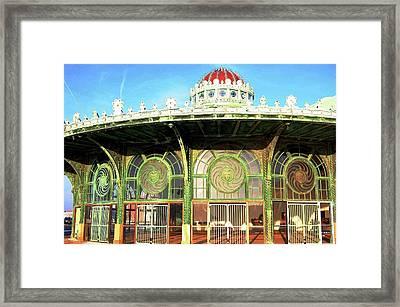 Carousel Building, Asbury Park Framed Print by Bob Cuthbert
