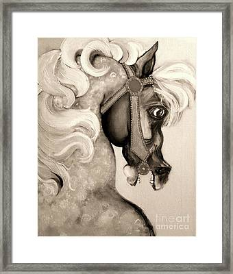 Framed Print featuring the mixed media Carousel by Carolyn Weltman