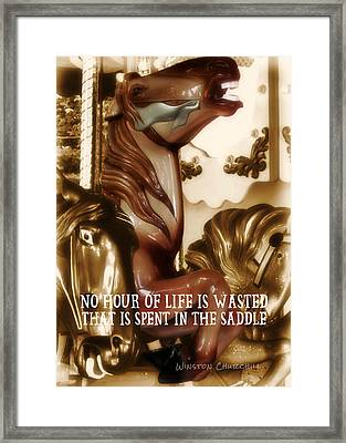 Carousel Color Quote Framed Print by JAMART Photography