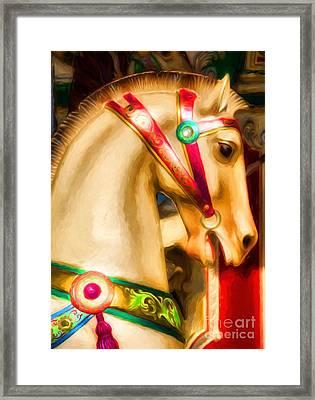 Carousel Colors Framed Print by Mel Steinhauer