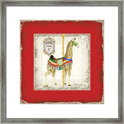 Carousel Dreams - Giraffe Framed Print