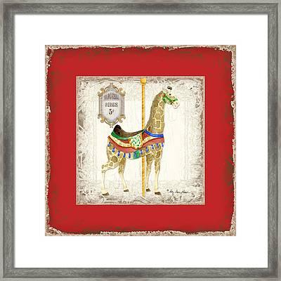 Carousel Dreams - Giraffe Framed Print by Audrey Jeanne Roberts