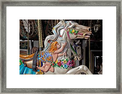 Carousel Horse And Angel Framed Print by Garry Gay