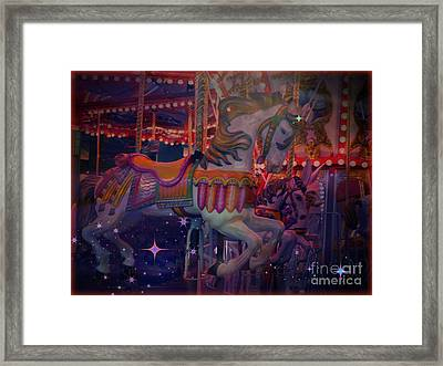 Carousel Horse Framed Print by Annie Gibbons