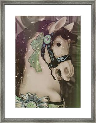 Carousel Horse Framed Print by JAMART Photography