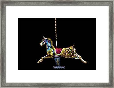 Carousel Horse Framed Print by Martin Newman