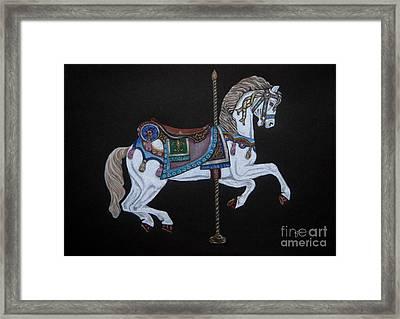 Carousel Horse Framed Print by Yvonne Johnstone