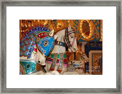 Carousel Horses Framed Print by Patty Vicknair