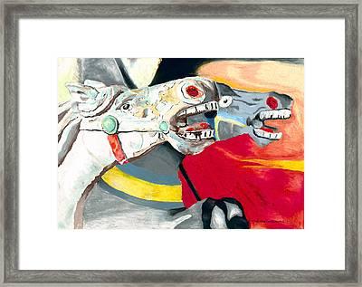 Carousel Horses Framed Print by Stephen Anderson