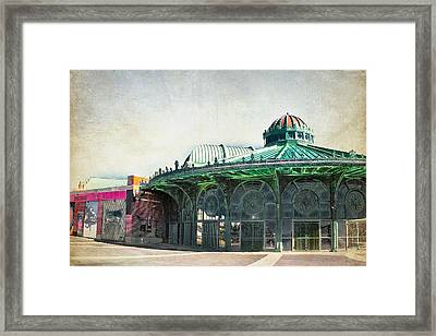 Carousel House At Asbury Park Framed Print by Colleen Kammerer