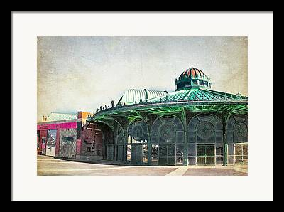Asbury Park Carousel House Framed Prints