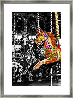 Carousel In Isolation Framed Print