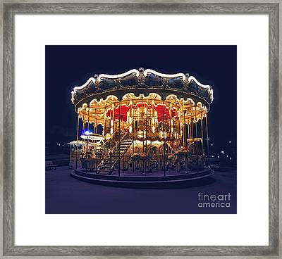 Carousel In Paris Framed Print
