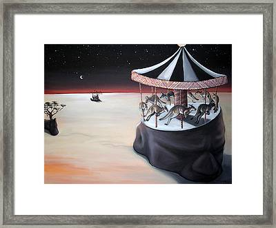 Carousel In The Head Framed Print by Charlotte Oedekoven
